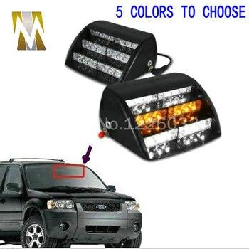 18 LED Emergency Vehicle Strobe Lights Windshields Dashboard Flash Warning Red/Bule/Amber/White POLICE LIGHTS Free Shipping