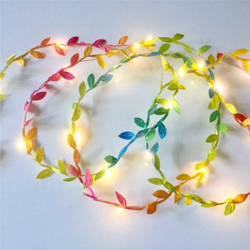 5M 10M Tiny Leaves Garland Fairy Holiday Light Led Copper Wire  String Light For Wedding Forest Table Xmas Home Party Decoration
