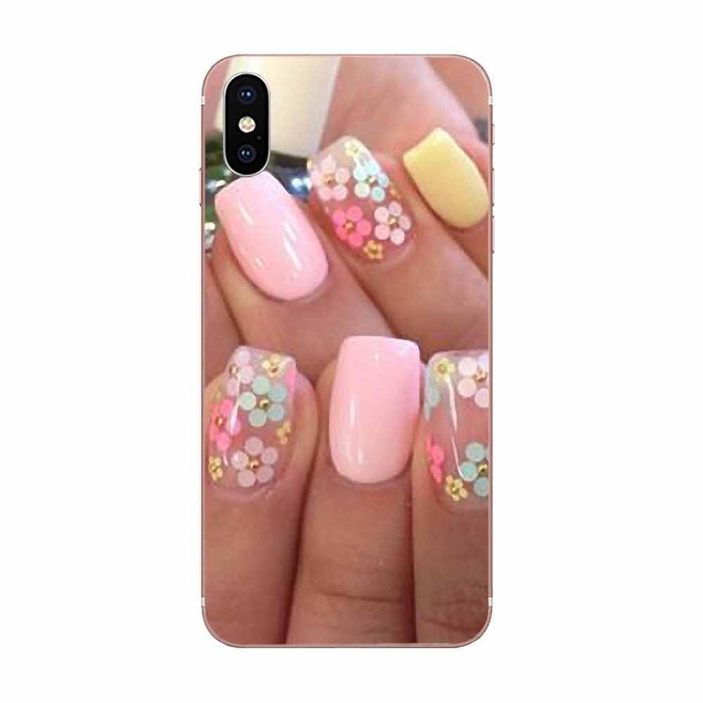 Парфюм лак для ногтей для Xiao mi 3 mi 4 mi 4C mi 4i mi 5 mi 5s 5X6 6X8 SE Pro Lite A1 Max mi x 2 Note 3 4 TPU хит продаж