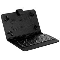 Funda magnética plegable de cuero PU para tableta, con teclado Stylus Pen, 7/8 pulgadas