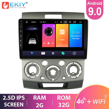 EKIY 9'' IPS Android 9.0 Car Radio For Ford Everest Ranger 2006-2010 Stereo Multimedia Video Player GPS Navigation 4G Wifi BT HU image