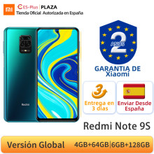 Versión Global Xiaomi Redmi Note 9 4GB 64GB 6GB 128GB Smartphone Snapdragon 720G Octa Core 48MP Quad Cámara 6,67