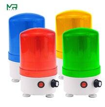 Novo som e luz alarme 220v24v12v rotativo luz de advertência volume ajustável led som e luz integrada luz indicadora de alarme