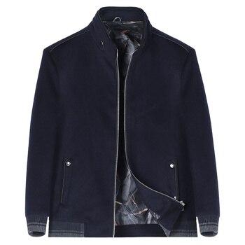 YOUTHUP Autumn Men's Casual Jacket Wool Coats Zipper Overcoats Topcoat Mens Fitness Coat Streetwear 4 Colors Plus Size M-6XL