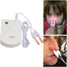 Dropshipping bionase nariz rinite sinusite cura terapia massagem febre do feno baixa frequência pulso laser nariz cuidados de saúde máquina