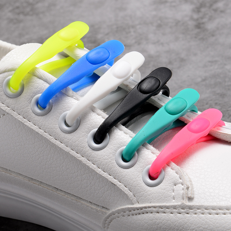 12pcs Set Business Easy No Tie Shoelaces Elastic Silicone Round Shoe Lace Cool