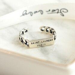 925 ayar gümüş açık yüzükler kadınlar için Vintage stil bayan alerji önlemek ayar-gümüş-takı