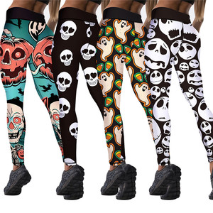 Image 3 - 8 Colors Womens Halloween Leggings Digital Print High Waist Pants Workout Push Up Leggins Mujer Knitted Sexy Christmas leggings