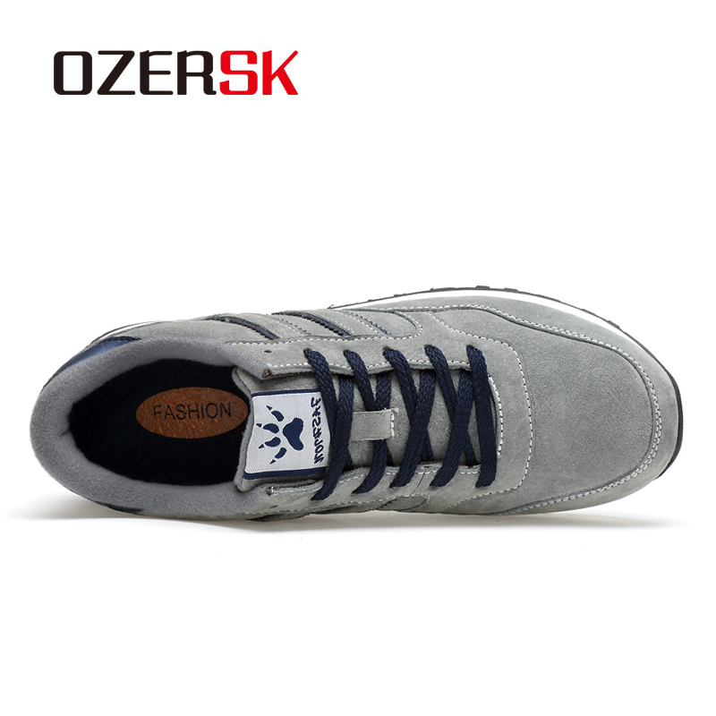 Image 2 - OZERSK ブランド秋冬メンズ快適な牛スエード靴のファッションスニーカー男性高品質デザイナー因果靴男性靴メンズカジュアルシューズ   -