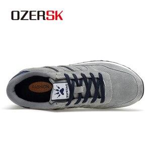 Image 2 - OZERSK מותג סתיו חורף גברים נוח פרה זמש נעלי אופנה סניקרס זכר באיכות גבוהה מעצב סיבתי נעלי גברים נעליים