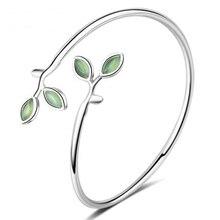 Сладкий Опал Burgeon 925 пробы серебряные браслеты для женщин подарок Pulseira серебряные 925 ювелирные изделия