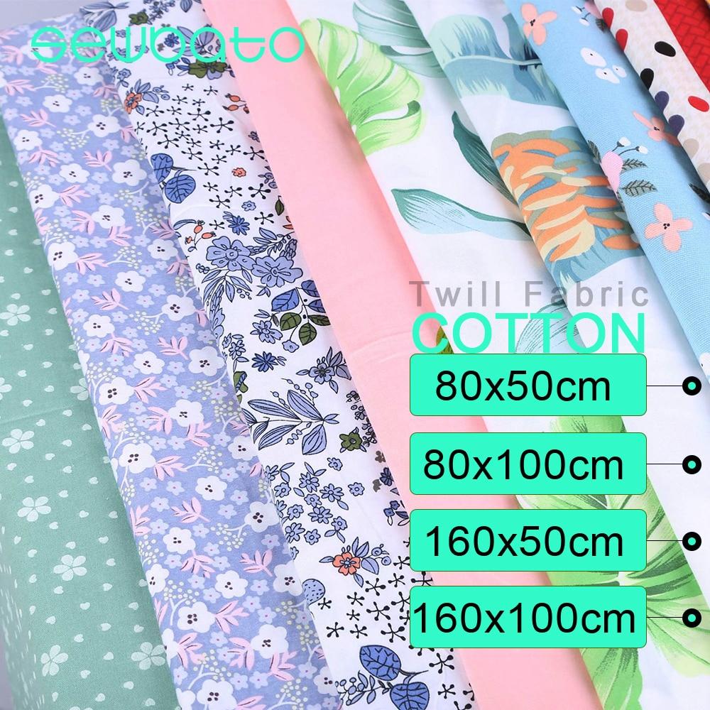 SEWBATO tessuto in cotone 100% stampato Twill di cartone animato di 4 dimensioni per bambino cucito trapuntatura quarti di grasso bambino tessuto fai da te per Patchwork