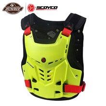 SCOYCO motosiklet zırh yelek motosiklet göğüs geri koruma dişli motokros zırh yarış yelek motosiklet koruyucu ekipman