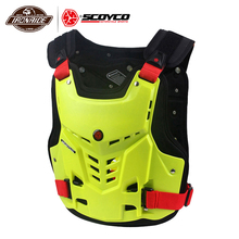 SCOYCO pancerz motocyklowy kamizelka motocykl klatka piersiowa ochrona pleców Motocross pancerz wyścigi kamizelka motocykl Protector sprzęt