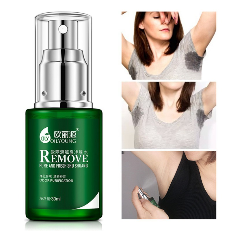 Summer Dress Deodorants Spray Men Women Remove Body Odor Reduce Sweat Secretion Antiperspirant Liquid For Underarm FP51