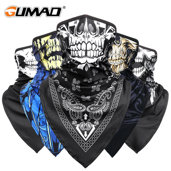 Men Girl Breathable Sport Red Skull Bandana Scary Face Ski Triangle Scarf Fishing Hiking Running Neck Gaiter Cover Headband Thin - discount item  31% OFF Camping & Hiking
