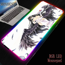 MRGBEST 900X400X3mm Japan Anime Character Overlord Rubber Mouse Pad Non-slip Keyboard Desk Large RGB LED