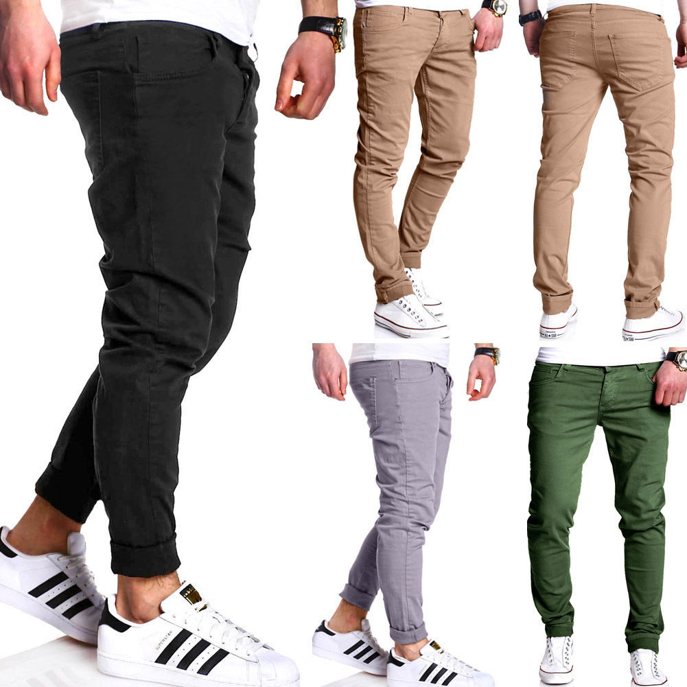 Men's Pants AliExpress Summer Wear New Style Men Solid Color Washing Casual Trousers