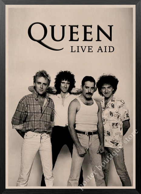 queen band music kraft paper poster freddie mercury brian may vintage high quality drawing core decorative painting wall sticker