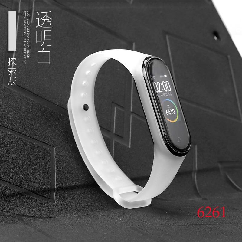 Для Xiaomi Mi Band 4/3 ремешок Металлическая пряжка силиконовый браслет аксессуары miband 3 браслет Miband 4 ремешок для часов М - Цвет: 6261