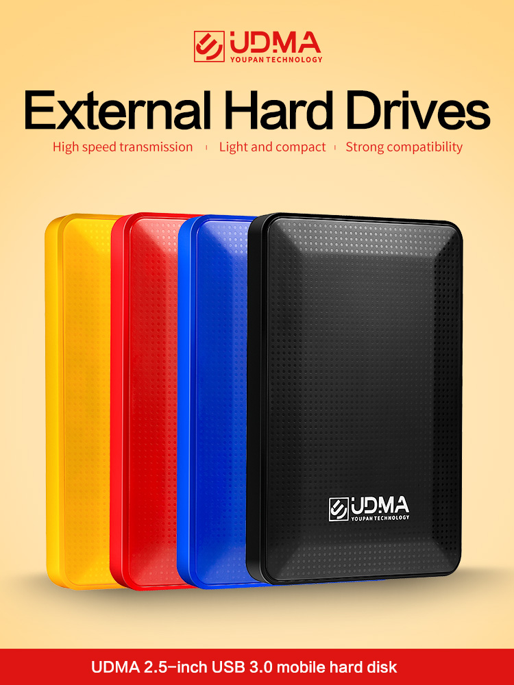 "UDMA 2.5"" USB3.0 Portable External Hard Drive Disco duro externo Disque dur externe for PC, Mac,Tablet, Xbox, PS4,TV box(China)"