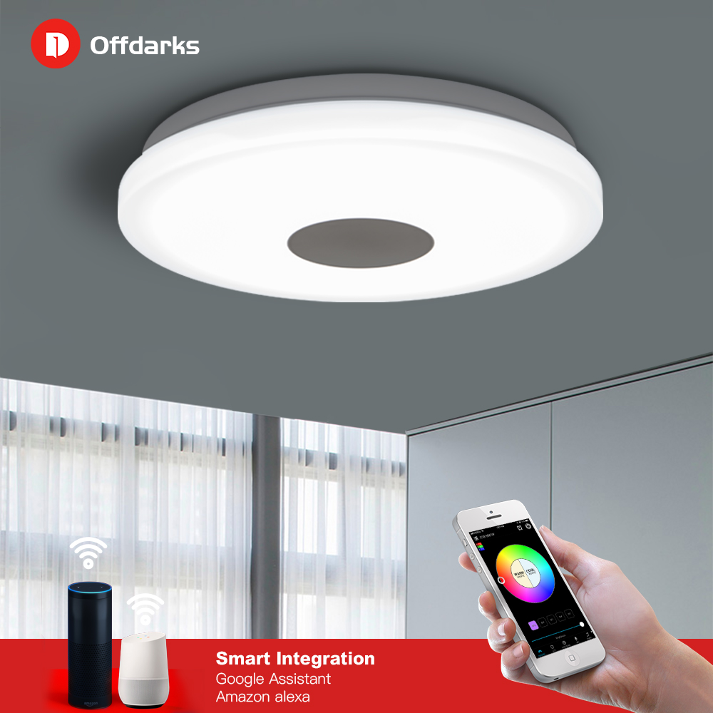 Smart LED Ceiling Light 48W 60W Application Remote Mobile Control RGB Dimming Color Kitchen Living Room ceiling lamp