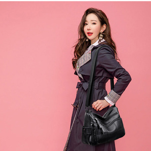 Image 5 - Hot Soft Leather Bolsa Luxury Ladies Hand Bags Female Crossbody Bags for Women Shoulder Messenger Bags Thread Sac A Main Femme
