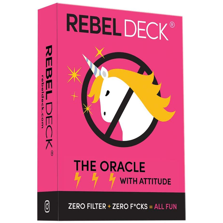 REBEL DECK- The Game- An Oracles Game Of Intuition And Divination Tarot Card Games With Attitude Zero Filter Zero Fcks 60 Cards