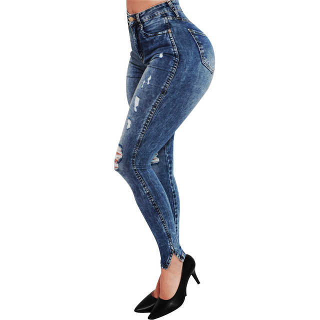 Stretch Distressed Jeggings 4