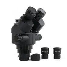 Simul מוקד 3.5 90X רציף זום מיקרוסקופ סטריאו Trinocular ראש WF10X 20 עינית גומי eye שומרים