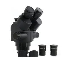 Simul Focal 3.5 90X Continue Zoom Trinoculaire Stereo Microscoop Hoofd WF10X 20 Oculair Rubber Eye Bewakers