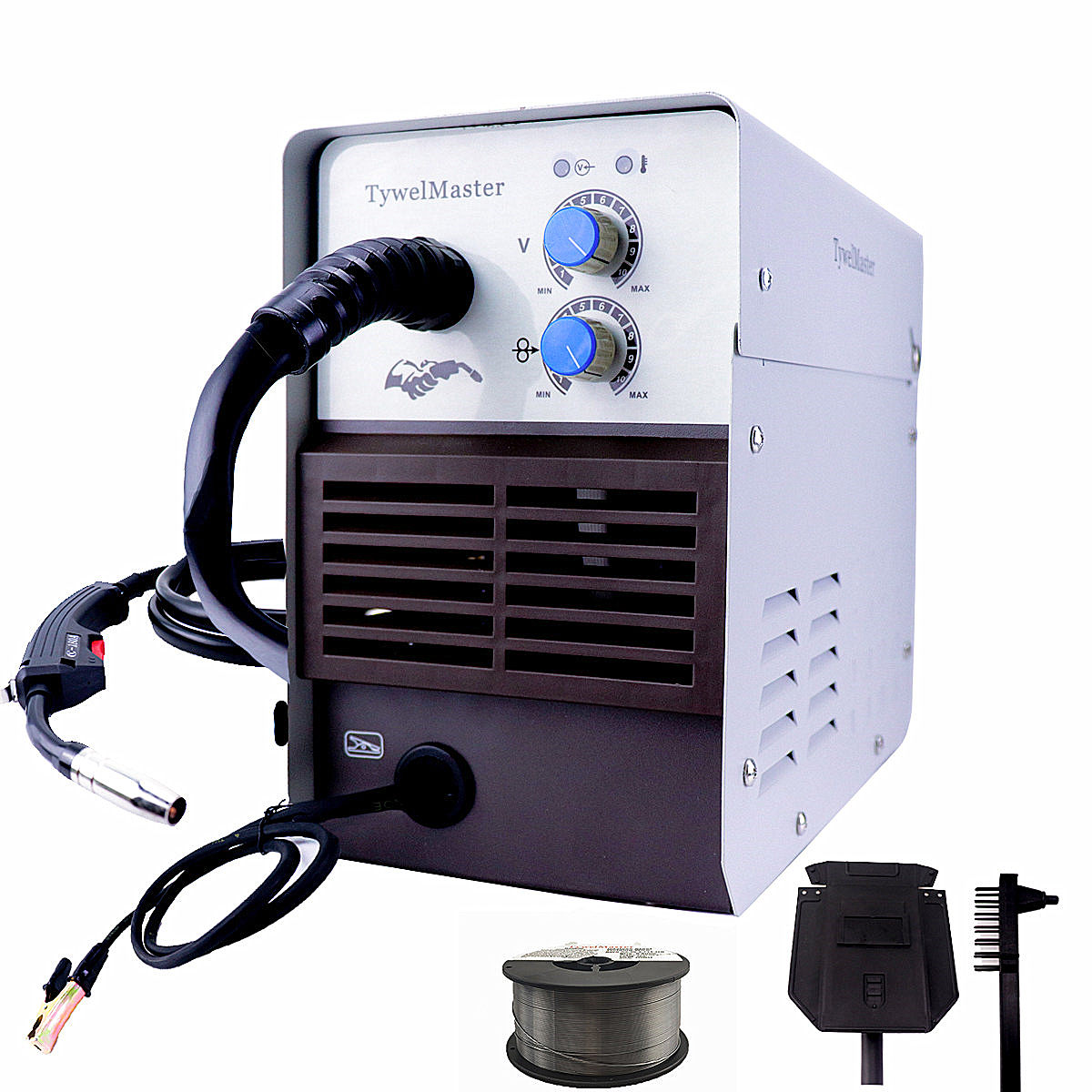 Gasless MIG Welding Machine 120A 230V Inverter IGBT 1kg Mini Spool Self Shield E71T-GS Flux Cored Arc Wire No Gas MIG Welder