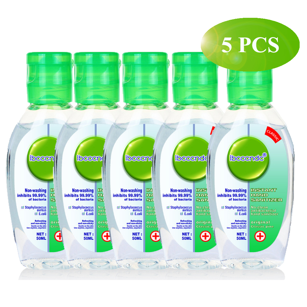 5Pcs/Pack 50ml Defense 24 Hour Non-Washing Disposable Hand Sanitizer Moisturizing Fragrance Free Handgel Anti-Bacterial Hand Gel