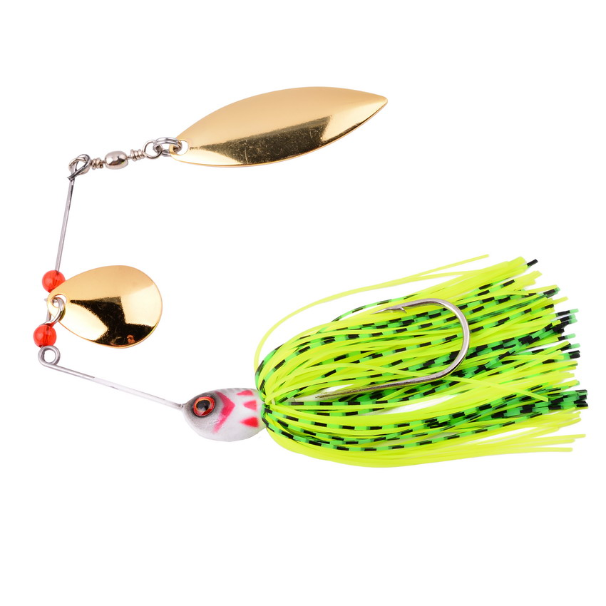 16.9g Spinner Fishing Lure Bait Spoon Bass Minnow Crank Popper Vib Spinnerbait Lures Tackle Hooks Fishing