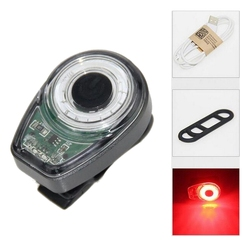 Inteligentne ostrzeżenie USB ładowanie tylne światła nocna jazda rower górski tylne tylne światła podświetlające plecak światła czerwone