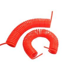 3m/6m/9m/12m/15m plutônio pneumático 6*4mm 8*5mm compressor de ar tubo de mola de mangueira espiral telescópica dropship flexível tubo de ferramenta de ar