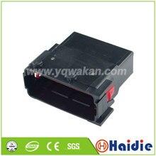 O envio gratuito de 2 conjuntos auto 16pin plugue plástico fio elétrico conector à prova dwaterproof água 185763-1