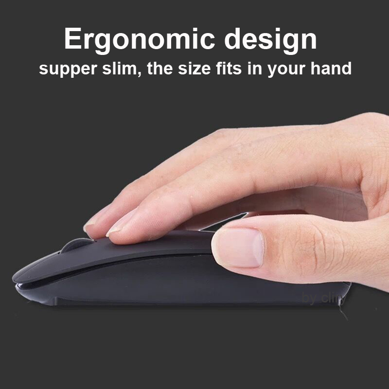 Wireless Mouse Computer Bluetooth Mouse Silent Mause Rechargeable Ergonomic Mouse 2.4Ghz USB Optical Mice For Macbook Laptop PC