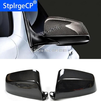 For BMW 5 6 7 Series F07 F06 F12 F13 F01 F02 2009 - 2013 Add On Style & Replacement Style Carbon Fiber Rear View Mirror Cover