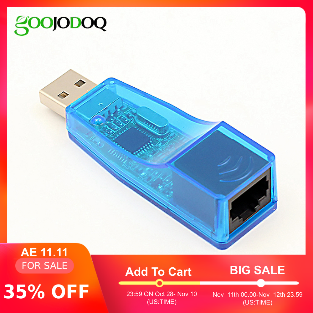 External USB Ethernet Adapter USB 2.0 To RJ45 Ethernet Wired Network Card LAN For Laptop Windows 7/8/10/XP Connector RD9700