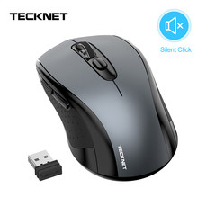 TeckNet 2000DPI USB Optical Wireless Computer Mouse for Laptop 2.4GHz Wireless Mouse Portable Mini Silent Mice for Desktop PC(China)
