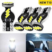 Um pacote t10 w5w 194 168 lâmpada led canbus luz interior do carro para volkswagen passat b6 b8 b5 opel insignia corsa vectra c 12v 6000k