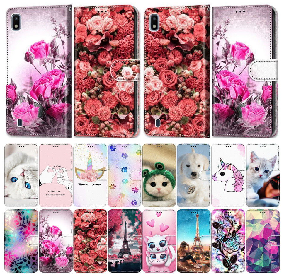 Phone Cover For Huawei P10 Lite P9 Lite 2016 P8 Lite 2017 2015 Leather Flip Phone Case Girl Boy Phone Bags Cute Funny Pet E08F