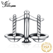 JewelryPalace Luck Libra 925 Sterling Silver Beads Charms Silver 925 Original For Bracelet Silver 925 original Jewelry Making