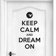 keep calm and dream on quote wall stickers vinyl home decor living room bedroom door decals removable art mural wallpaper 3b05 Keep Calm And Dream On Quote Wall Stickers Vinyl Home Decor Living Room Bedroom Door Decals Removable Art Mural Wallpaper 3B05