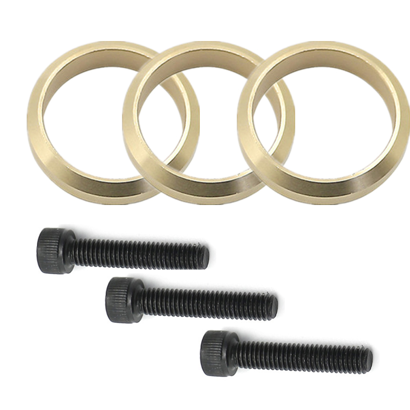 Set of 3 Copper Exhaust Gasket Kit Replace 99999-03989 For Yamaha Snowmobile Nytro Vector