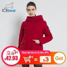 ICEbear 2019 New Winter Hooded Jacket Womens Coat Fashion Female Jacket Warm Winter womens Parkas Plus Size Clothing GWD19078I