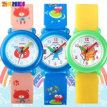 SKMEI Fashion Creative Children's Quartz Watches Lovely Cartoon For Boy Girl Clock Waterproof Kids Wristwatches Gift Reloj