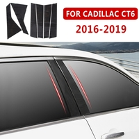 pcmos Door Window B,C Pillars Post Cover Sticker For Cadillac CT6 2016 2019 Car Body Protection Film Parts Chromium Styling New