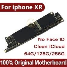 โรงงานปลดล็อคสำหรับIphone Xrเมนบอร์ดไม่มีFace IDฟรีICloudสำหรับIphone XR Mainboard IOSระบบLogic Board